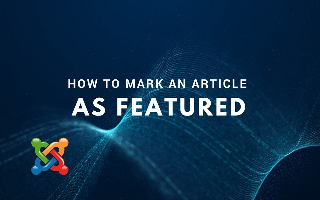 How to Mark an Article as Featured
