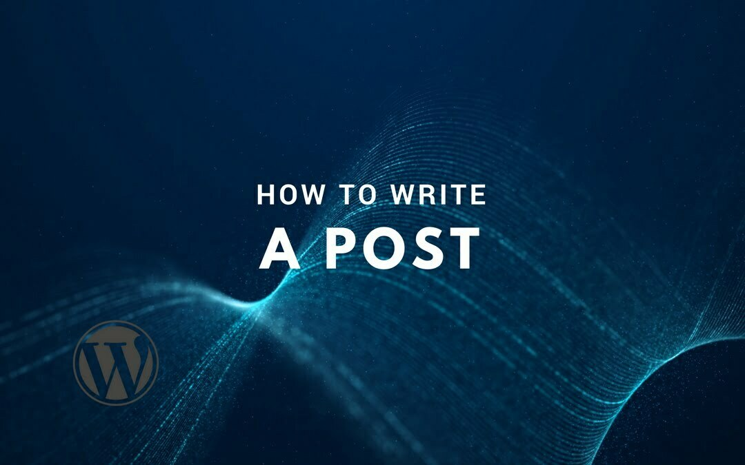 How to Write a Post